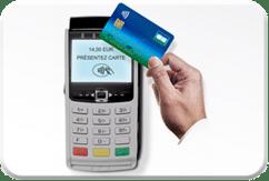 Terminal de paiement pour click and collect