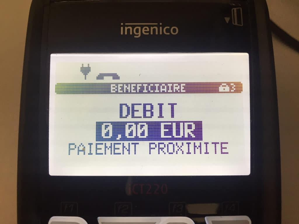 Terminal de paiement CB 5 5