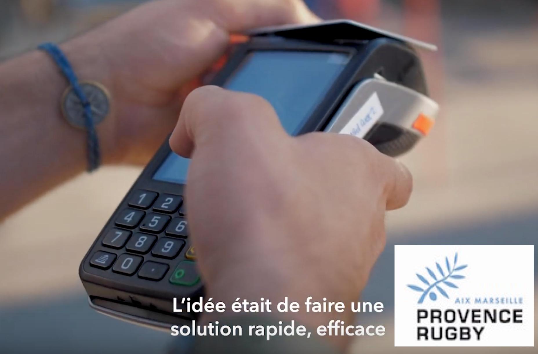 Vidéo du paiement cashless à Provence Rugby