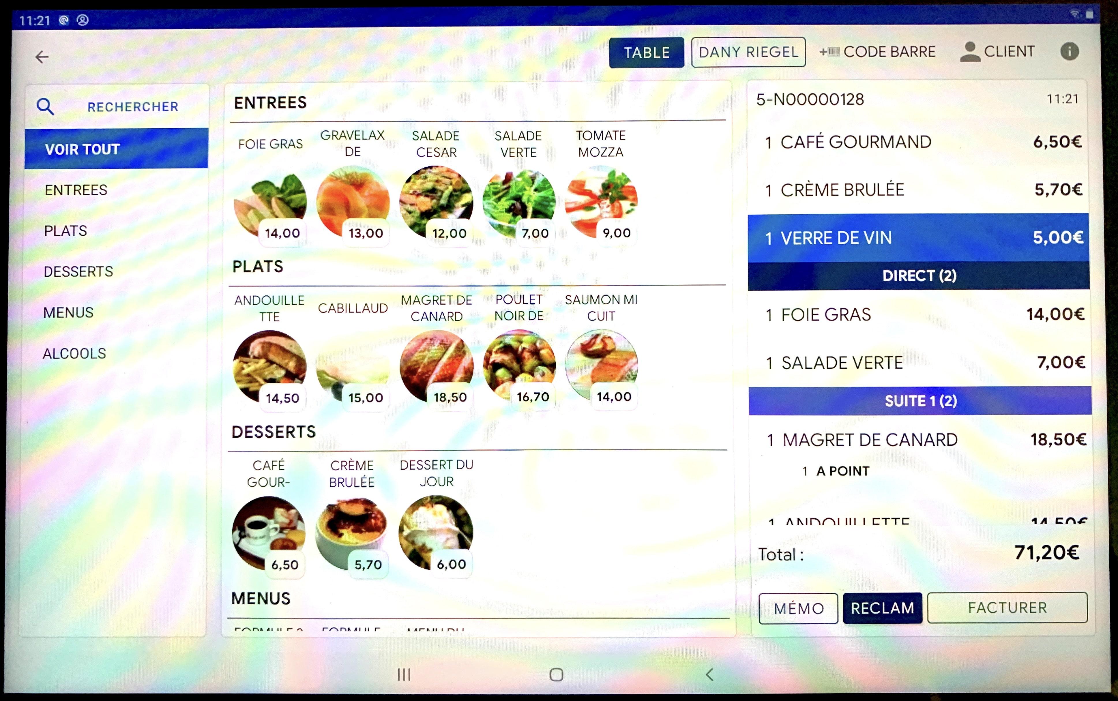 Logiciel de caisse restaurant sur Android