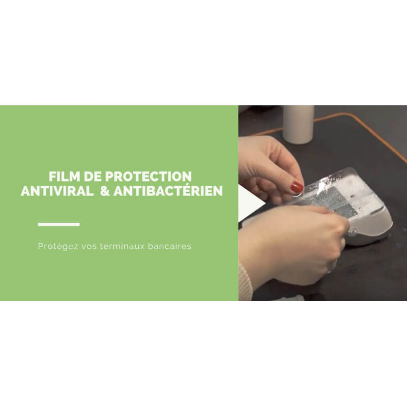 film antibacterien et antiviral pour tpe et caisse